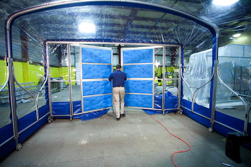 Portable Paint Booth >> Mobile Portable Prep Stations